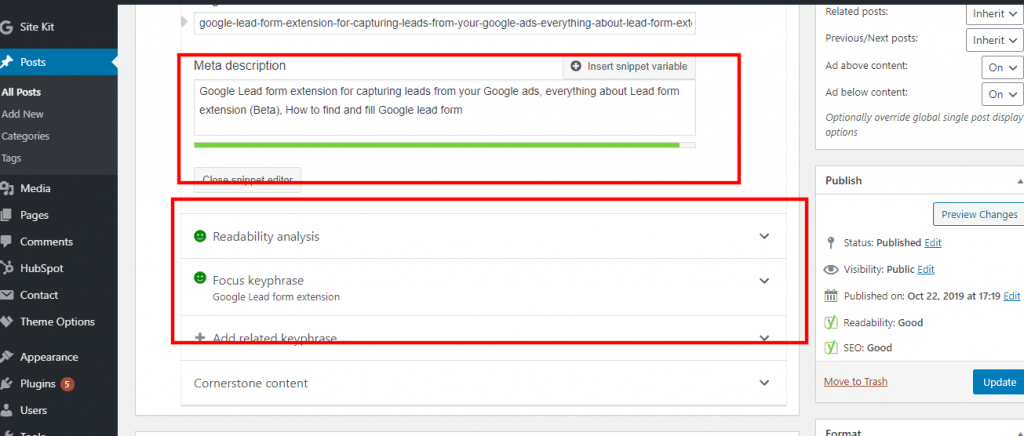 example of meta title and meta description with focused keyword