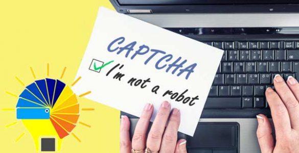 concept digital marketing recaptcha
