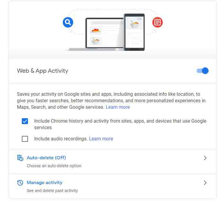 web-and-app-activity-google-account-cdm