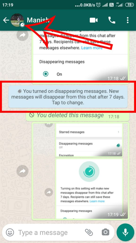 Whatsapp-Disappearing-show