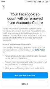 How to Unlink Facebook Account from Instagram Account